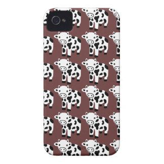 Caixa branca & preta de Brown bonito novo da vaca Capas Para iPhone 4 Case-Mate
