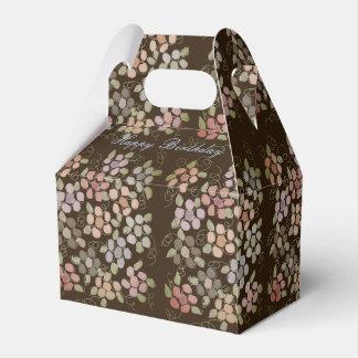 Caixa castanho chocolate florescida bonito do