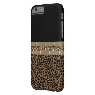Caixa cercada de IPhone 6 do leopardo Capa Barely There Para iPhone 6