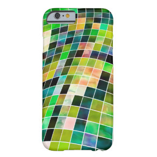 Caixa checkered verde abstrata capa barely there para iPhone 6
