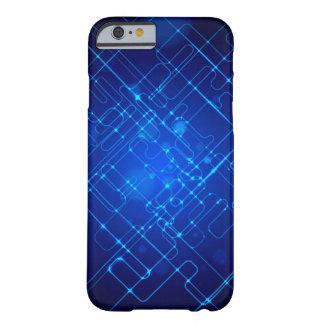 Caixa clara abstrata do azul capa barely there para iPhone 6