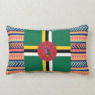 Caixa colorida da bandeira de Dominica Almofada Lombar