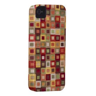 Caixa colorida do cobrir do iPhone dos quadrados Capa Para iPhone 4 Case-Mate
