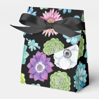 Caixa colorida do favor da barraca dos Succulents