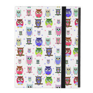 Caixa colorida do iPad das corujas dos desenhos an iPad Capas