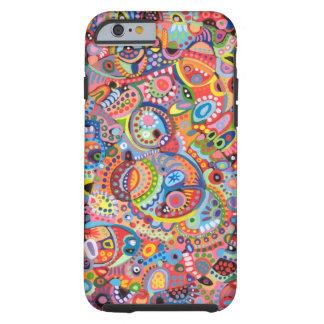 Caixa colorida do iPhone 6 da arte abstracta Capa Tough Para iPhone 6