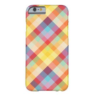 Caixa colorida do iPhone 6 da xadrez dos pixéis Capa Barely There Para iPhone 6