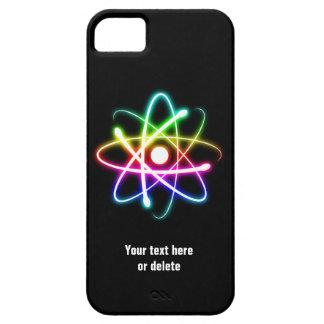 Caixa colorida do iPhone 6 do símbolo do átomo do Capa Barely There Para iPhone 5