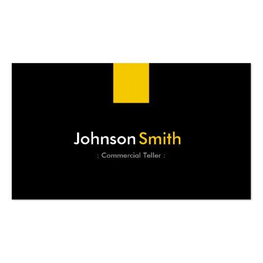 Caixa comercial - amarelo ambarino moderno cartoes de visitas