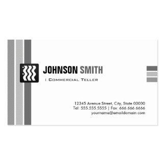 Caixa comercial - branco preto criativo cartão de visita