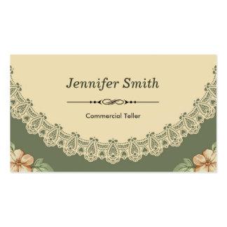 Caixa comercial - chique do vintage floral cartão de visita