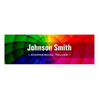 Caixa comercial - cores radiais do arco-íris cartão de visita skinny