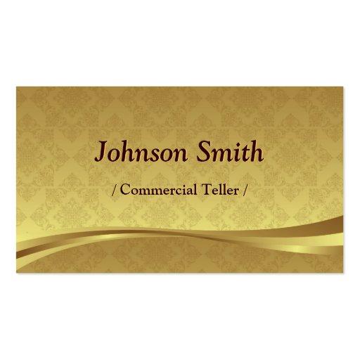 Caixa comercial - damasco elegante do ouro cartões de visitas