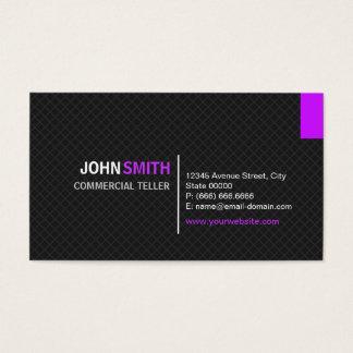 Caixa comercial - grade moderna da sarja cartão de visitas