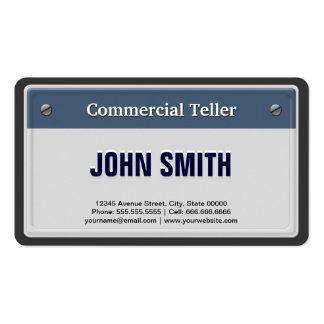 Caixa comercial - matrícula legal do carro modelos cartões de visita