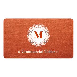 Caixa comercial - monograma elegante do laço cartão de visita