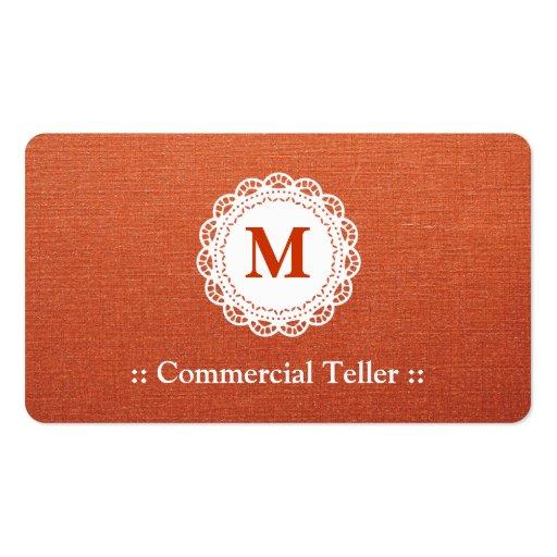 Caixa comercial - monograma elegante do laço modelos cartões de visitas