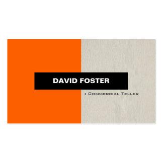 Caixa comercial - na moda elegante simples cartão de visita