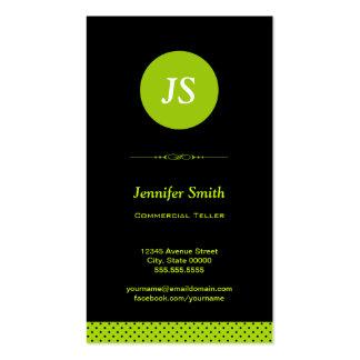 Caixa comercial - na moda verde-maçã cartão de visita