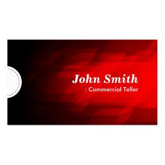 Caixa comercial - obscuridade moderna - vermelho cartões de visitas