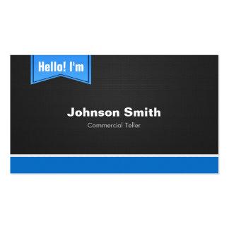 Caixa comercial - olá! contacte-me cartão de visita