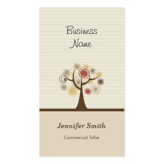 Caixa comercial - tema natural à moda cartão de visita