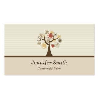Caixa comercial - tema natural elegante cartão de visita