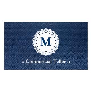 Caixa comercial - teste padrão do azul do cartão de visita