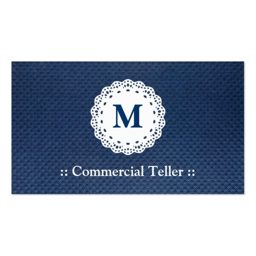Caixa comercial - teste padrão do azul do monogram modelos cartões de visitas