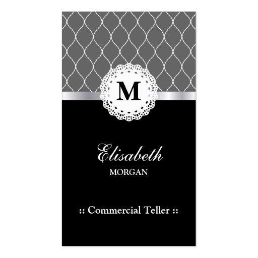 Caixa comercial - teste padrão preto elegante do l cartoes de visitas