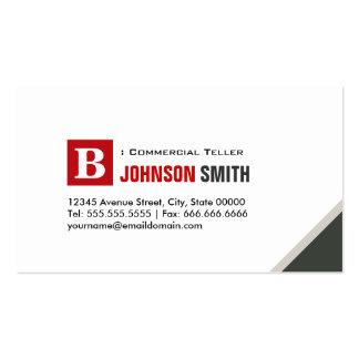 Caixa comercial - vermelho chique simples cartão de visita