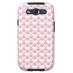 Caixa cor-de-rosa da galáxia de Samsung das gotas  Samsung Galaxy S3 Capa