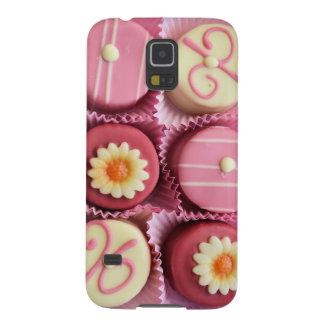 Caixa cor-de-rosa da galáxia S5 de Petits Fours Capa Para Galaxy S5