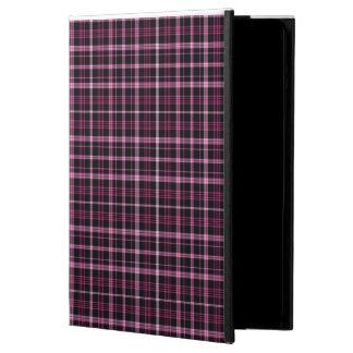 Caixa cor-de-rosa do ar de IPad da xadrez