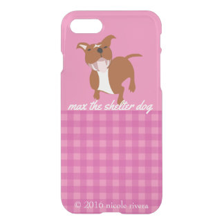 Caixa cor-de-rosa do defletor de Clearly™ do Capa iPhone 7