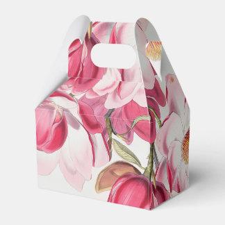 Caixa cor-de-rosa do favor da magnólia