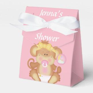 Caixa cor-de-rosa do favor do chá do rato do bebê