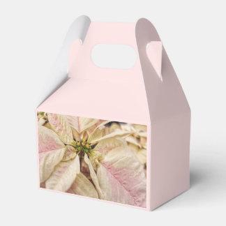 Caixa cor-de-rosa e branca elegante do favor da