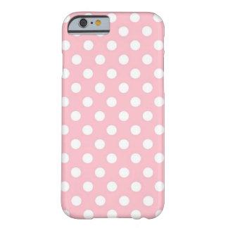 Caixa cor-de-rosa e branca retro do iPhone 6 das Capa Barely There Para iPhone 6