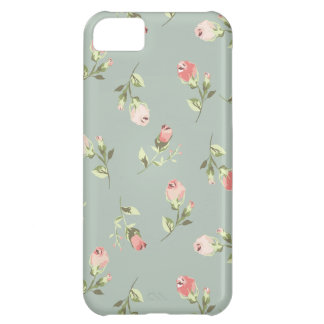 Caixa cor-de-rosa floral do iPhone 5C do vintage Capa Para iPhone 5C