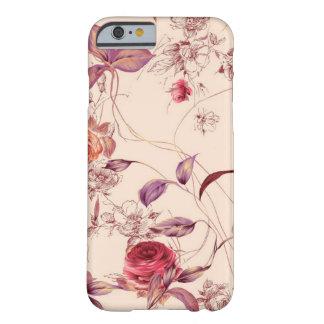 Caixa cor-de-rosa floral do iPhone 6 do vintage Capa Barely There Para iPhone 6