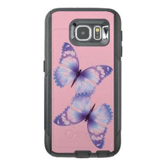 Caixa cor-de-rosa & roxa do telemóvel da borboleta