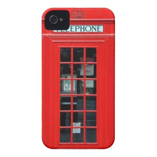 Caixa corajosa de Blackberry da cabine de telefone Capa Para iPhone 4 Case-Mate