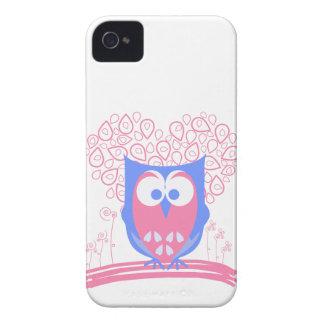Caixa corajosa de Blackberry da coruja lunática Capa Para iPhone 4 Case-Mate