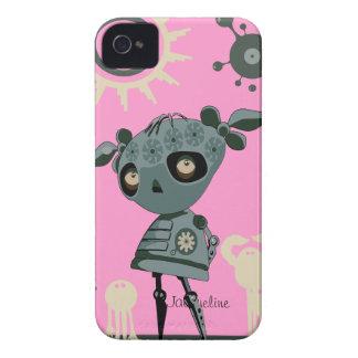 Caixa corajosa de Blackberry da menina robótico Capinha iPhone 4