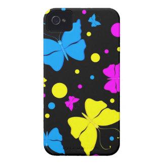 Caixa corajosa de Blackberry das borboletas Capas Para iPhone 4 Case-Mate