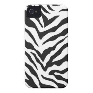 Caixa corajosa de Blackberry do impressão da zebra Capinha iPhone 4