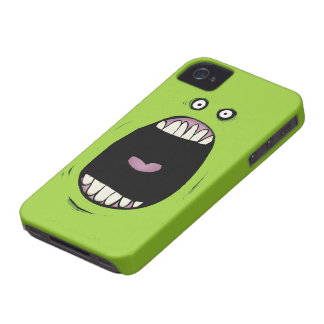 Caixa corajosa de Blackberry do monstro de Greemn Capas Para iPhone 4 Case-Mate