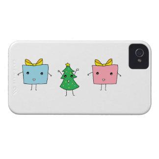 Caixa corajosa de Blackberry do Natal bonito Capa Para iPhone