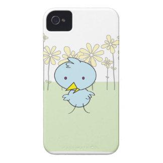 Caixa corajosa de Blackberry do passarinho azul Capa Para iPhone 4 Case-Mate